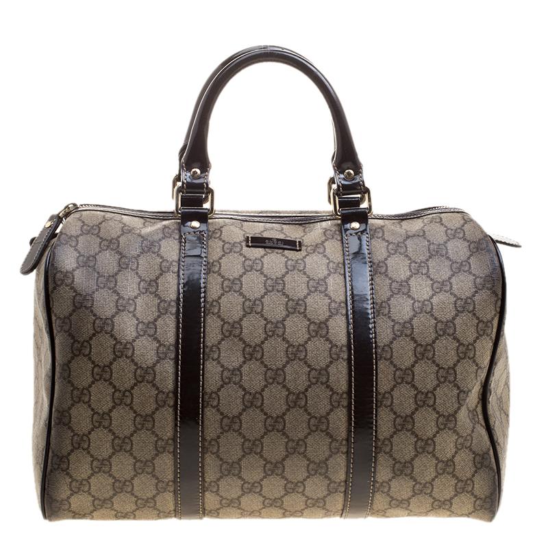 fa1af0f3e ... Gucci Beige/Brown GG Supreme Canvas and Leather Medium Joy Boston Bag.  nextprev. prevnext