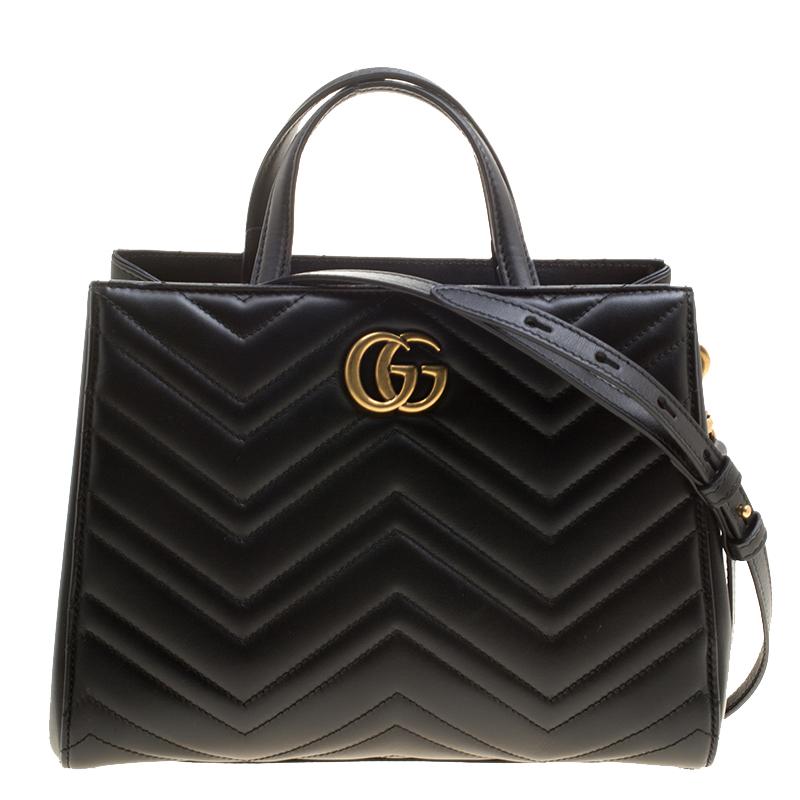 aec329fb819 ... Gucci Black Matelasse Leather Small GG Marmont Top Handle Bag.  nextprev. prevnext