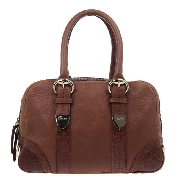 fbb8a73b6be ... Gucci Brown Micro Guccissima Trim Medium Boston Bag. nextprev. prevnext