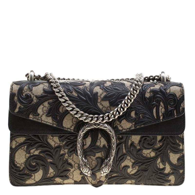 9dbab2d3ecd ... Gucci Black GG Supreme Canvas Small Dionysus Arabesque Shoulder Bag.  nextprev. prevnext