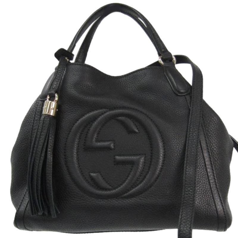 16497300a8a485 ... Gucci Black Pebbled Leather Soho Shoulder Bag. nextprev. prevnext