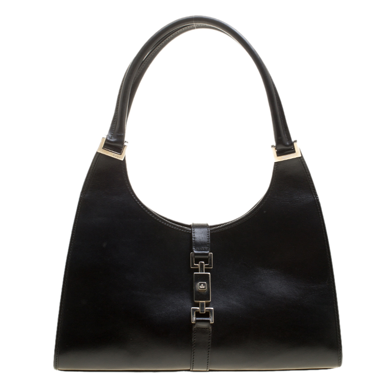 f676cb869f342a Buy Gucci Black Leather Jackie O Tote 137510 at best price | TLC