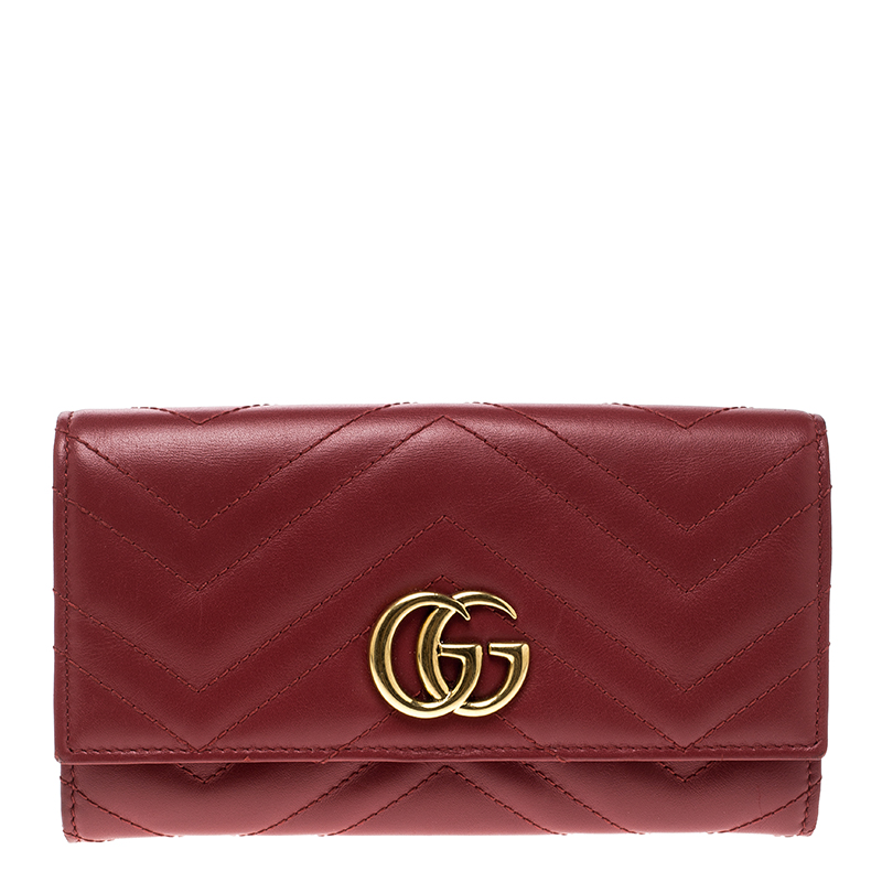 c344b3b713e8 Buy Gucci Red Leather GG Marmont Continental Wallet 139815 at best ...