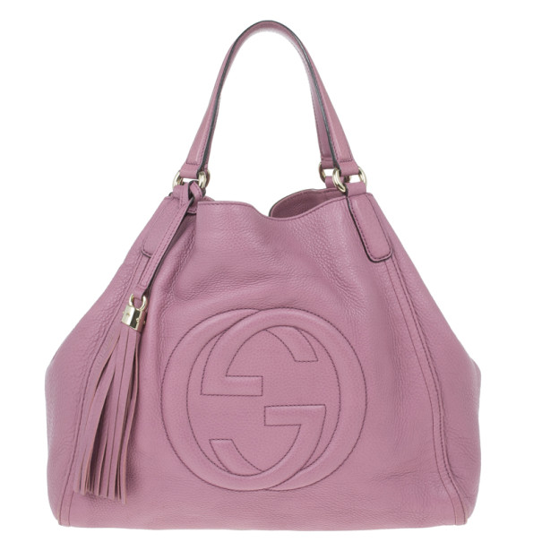 3a99272cc047 Buy Gucci Parma Pink Leather Soho Bag 14154 at best price | TLC