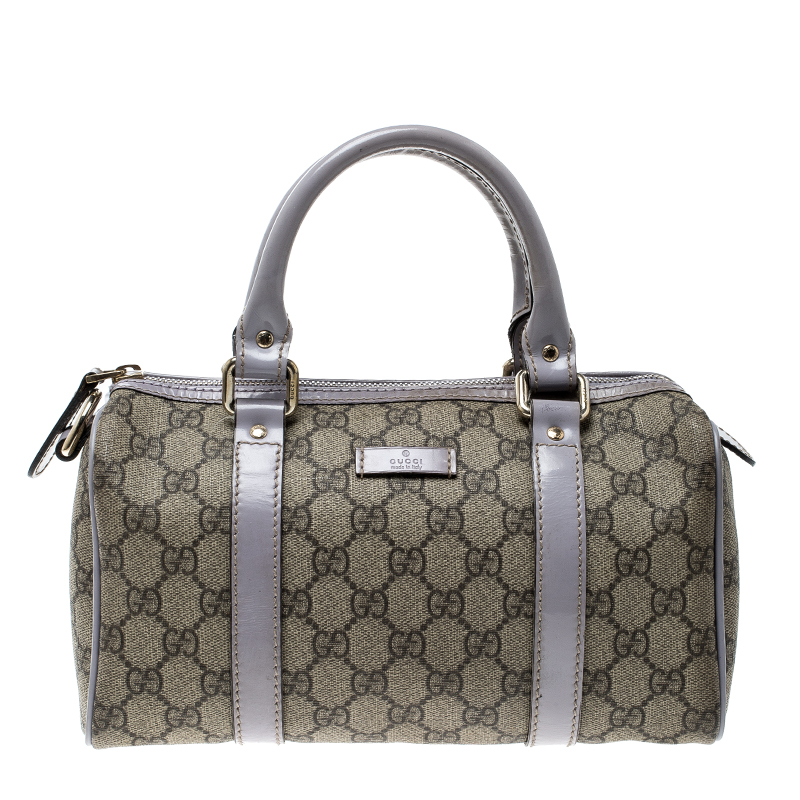 5918d73ec9ae ... Gucci Beige/Lilac GG Supreme Canvas and Leather Small Joy Boston Bag.  nextprev. prevnext