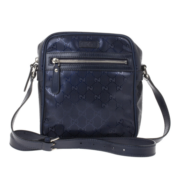 7f13c24e5a0 Buy Gucci Blue Guccissima Leather Crossbody Bag 14642 at best price ...
