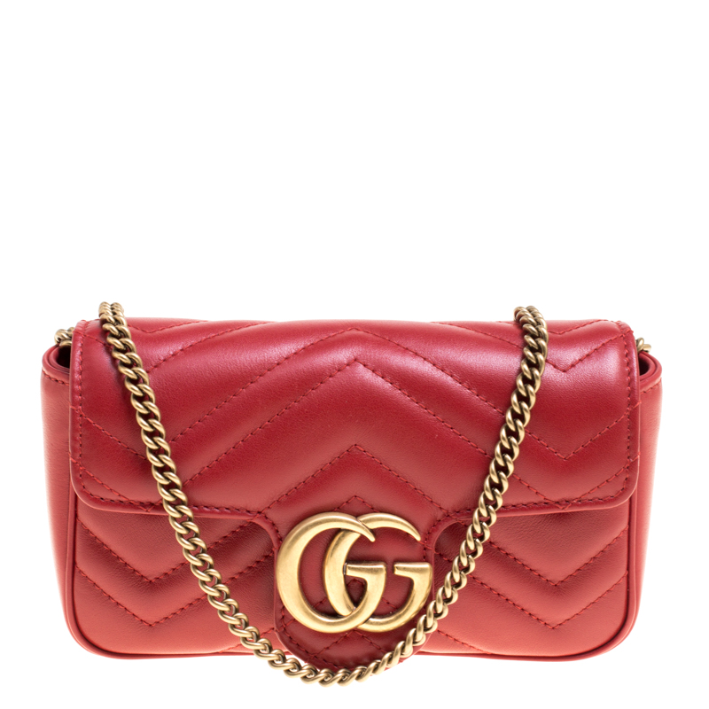 6f98f76f526f ... Gucci Red Matelasse Leather Mini GG Marmont Super Bag. nextprev.  prevnext