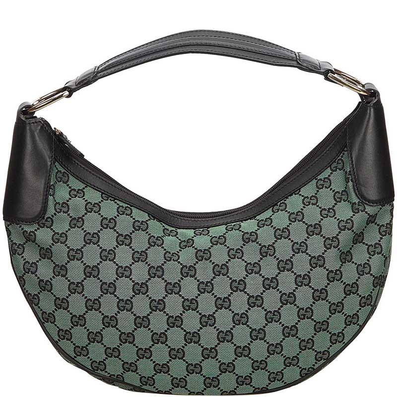 c70368244a3bbc Buy Gucci Guccissima Green Black Jacquard Half Moon Hobo 147449 at ...