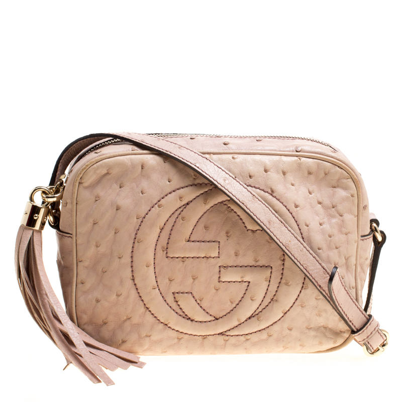 8acd4d2d227 ... Gucci Beige Ostrich Small Soho Disco Shoulder Bag. nextprev. prevnext