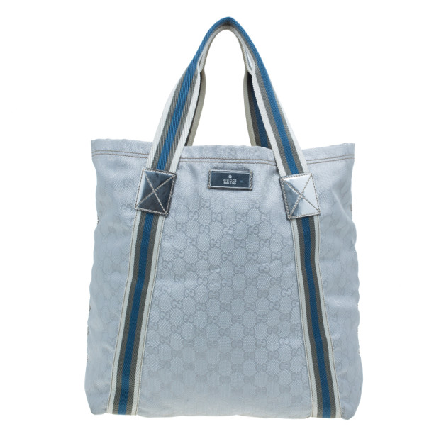 6d3370c25 Buy Gucci Silver Monogram Coated Canvas Tote 1499 at best price   TLC
