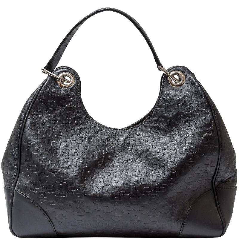 382c819e321 ... Gucci Black Horsebit Embossed Leather Shoulder Bag. nextprev. prevnext