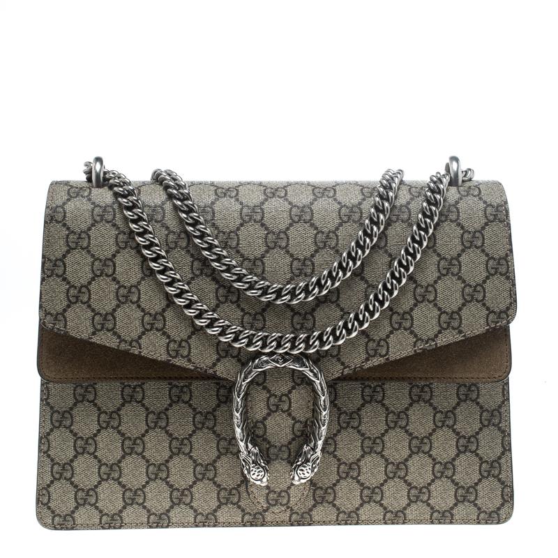 765c172667f ... Gucci Beige GG Supreme Canvas Medium Dionysus Shoulder Bag. nextprev.  prevnext