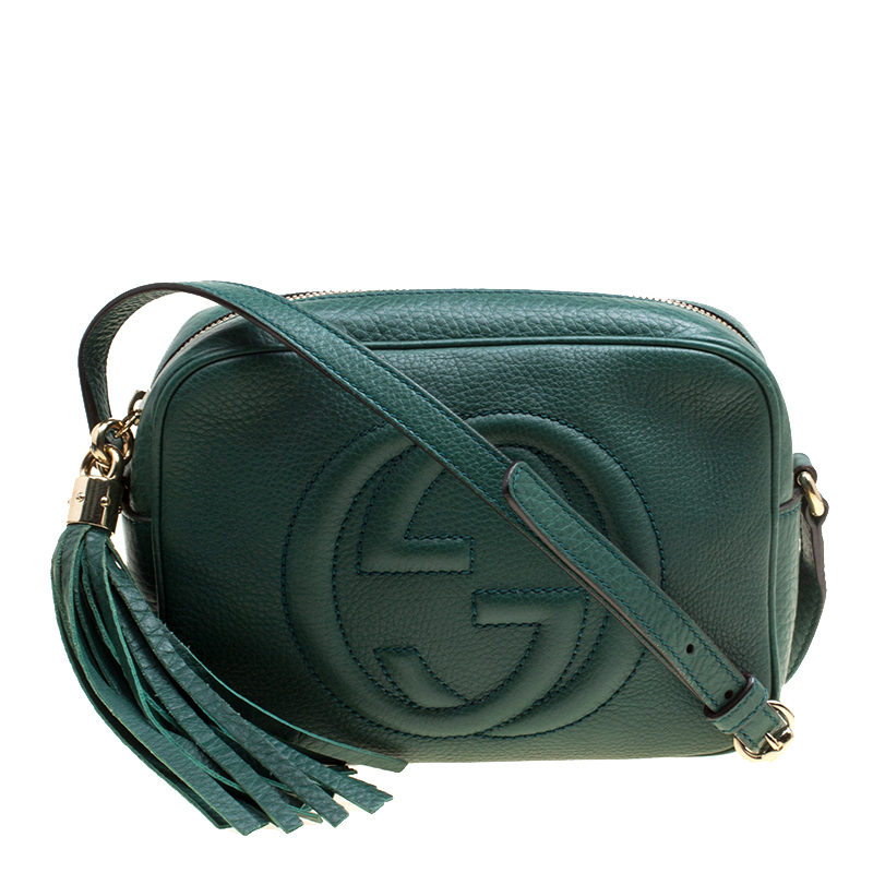 1b10aa331b ... Gucci Green Pebbled Leather Small Soho Disco Shoulder Bag. nextprev.  prevnext