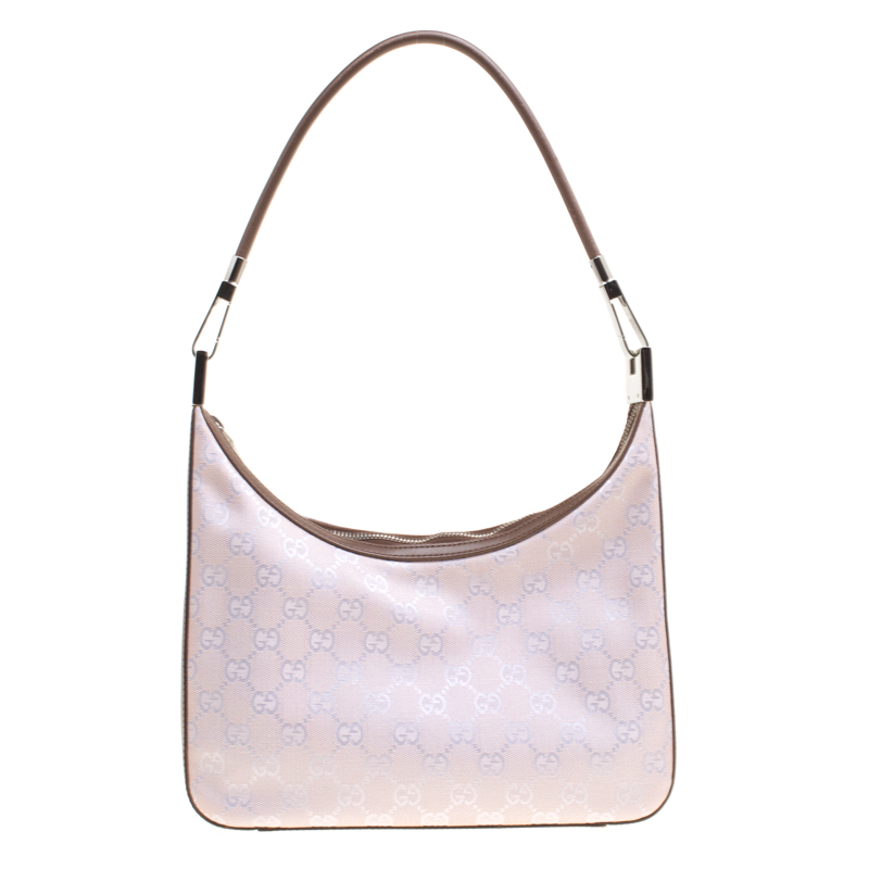 a7aac64cbd8f ... Gucci Lilac GG Canvas and Leather Shoulder Bag. nextprev. prevnext