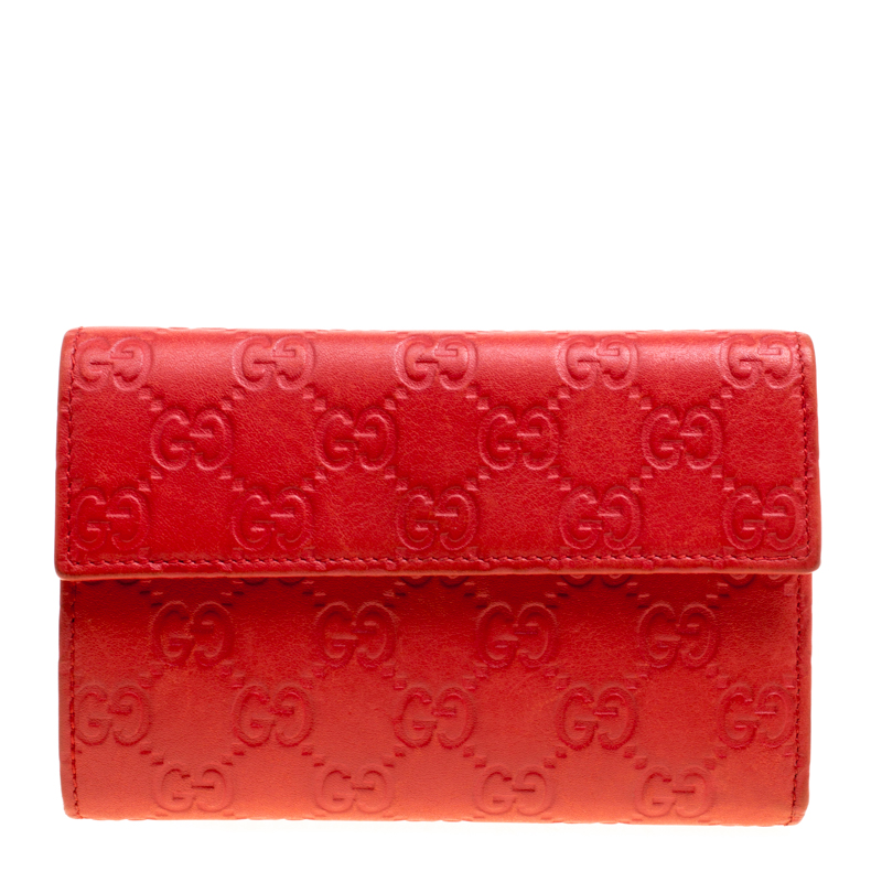 857af544e973 Buy Gucci Red Guccissima Leather Wallet 155930 at best price | TLC