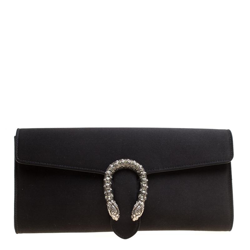 2e45417e0fb7 Buy Gucci Black Satin Dionysus Clutch 155936 at best price   TLC