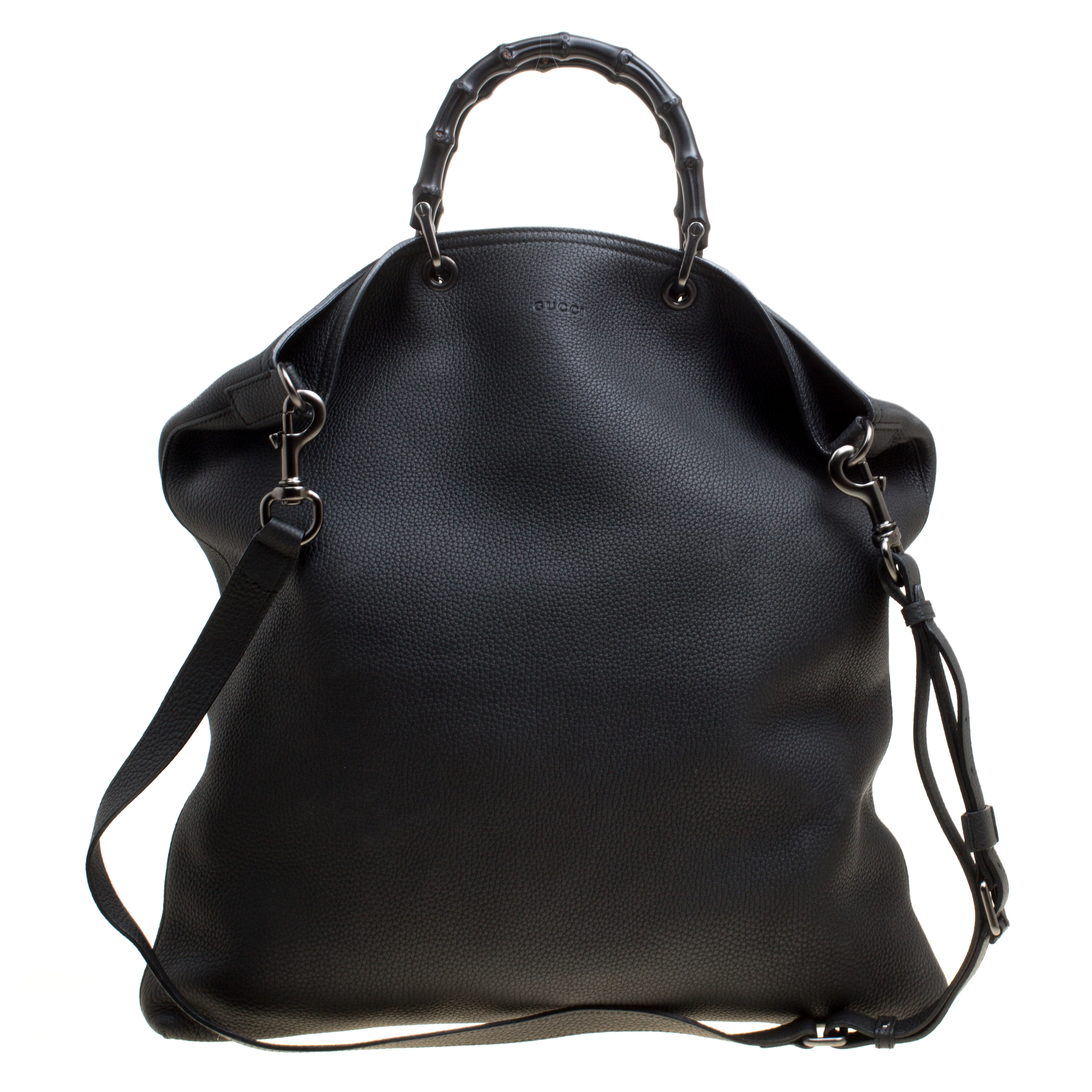 8e31d355b Buy Gucci Black Leather Bamboo Top Handle Bag 156873 at best price   TLC