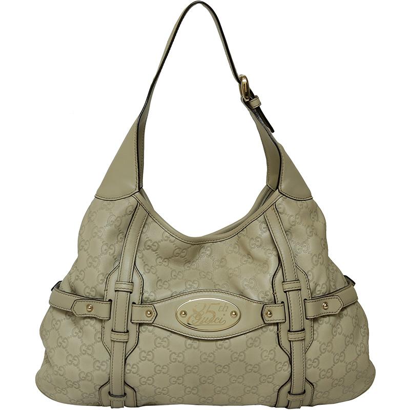 5f2ebcf9d190 ... Gucci Off-White Guccissima Leather 85th Anniversary Bridle Bit Hobo.  nextprev. prevnext
