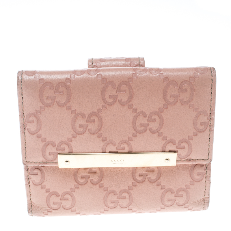 ee256ad6949c ... Gucci Blush Pink Guccissima Leather Mini Flap French Wallet. nextprev.  prevnext