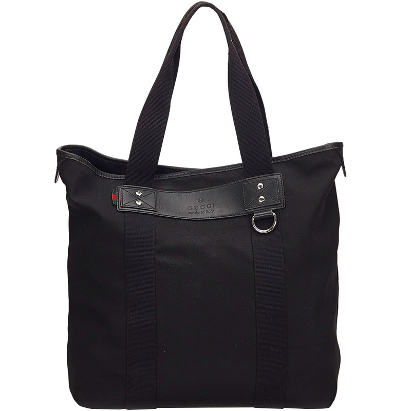 b56b14aa2 Buy Gucci Black Canvas Tote 160371 at best price | TLC