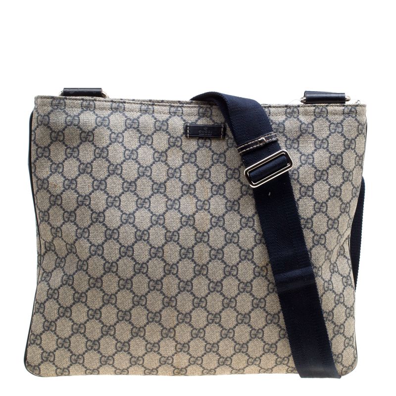 3119003d5f47 Buy Gucci Beige/Blue GG Supreme Canvas Messenger Bag 162750 at best ...