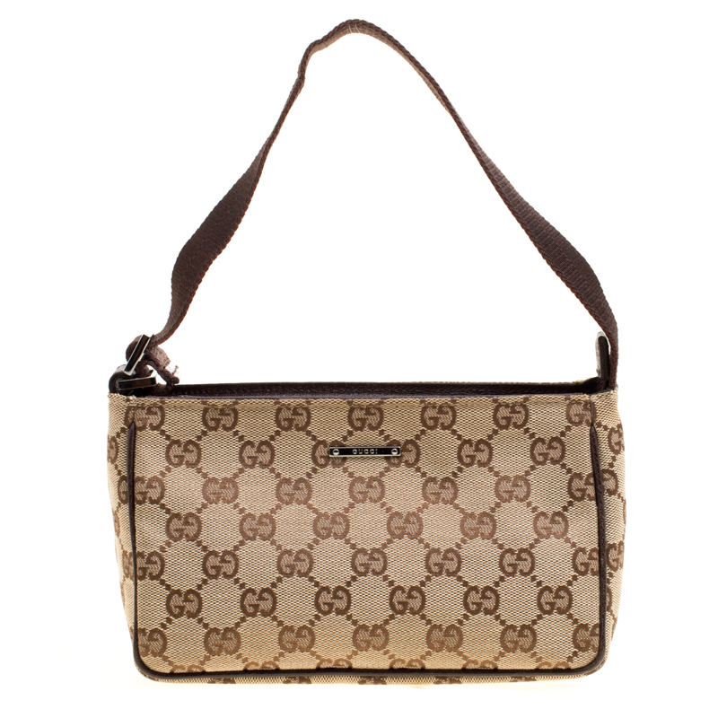 17e16ea56d7 Buy Gucci Beige GG Canvas Mini Shoulder Bag 163742 at best price