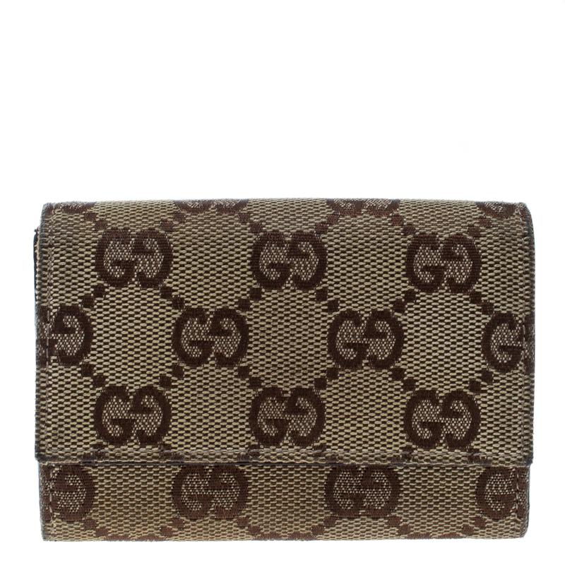 3e363036ea6e25 Buy Gucci Beige GG Canvas Coin Purse Wallet 163750 at best price | TLC