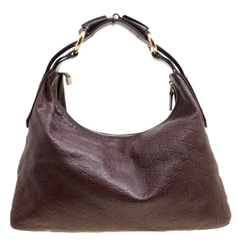Купить со скидкой Gucci Brown Guccissima Leather Medium Horsebit Hobo