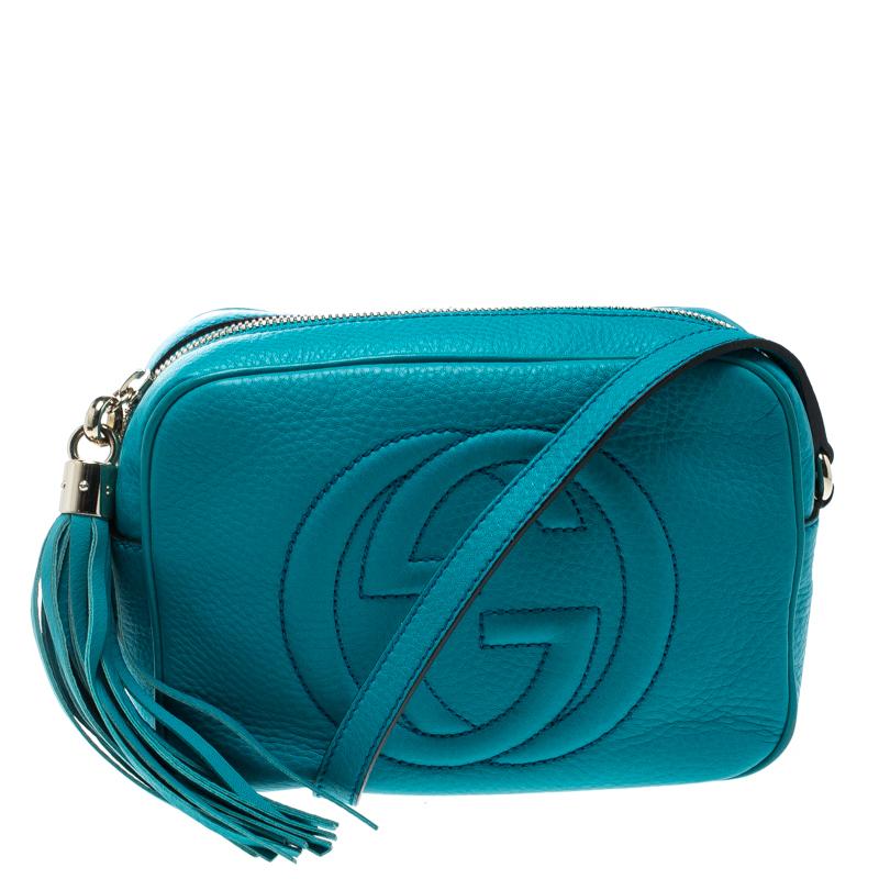 38b7f626f3d5 ... Gucci Turquoise Leather Small Soho Disco Shoulder Bag. nextprev.  prevnext