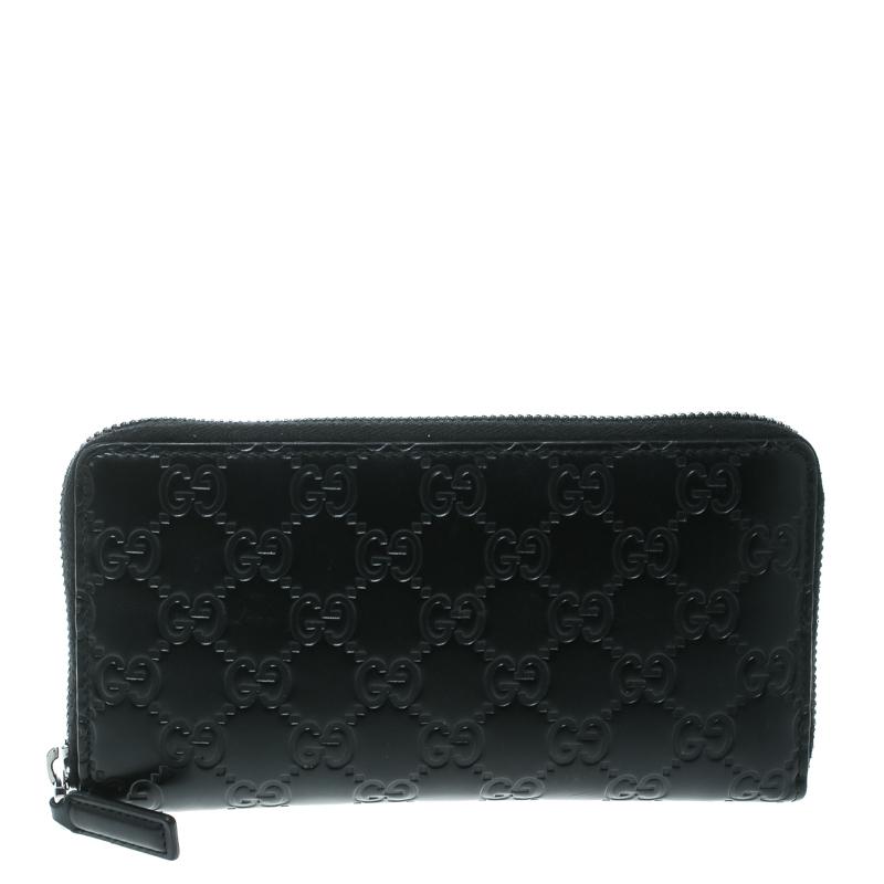 ad199a72525608 ... Gucci Black Guccissima Leather Zip Around Wallet. nextprev. prevnext