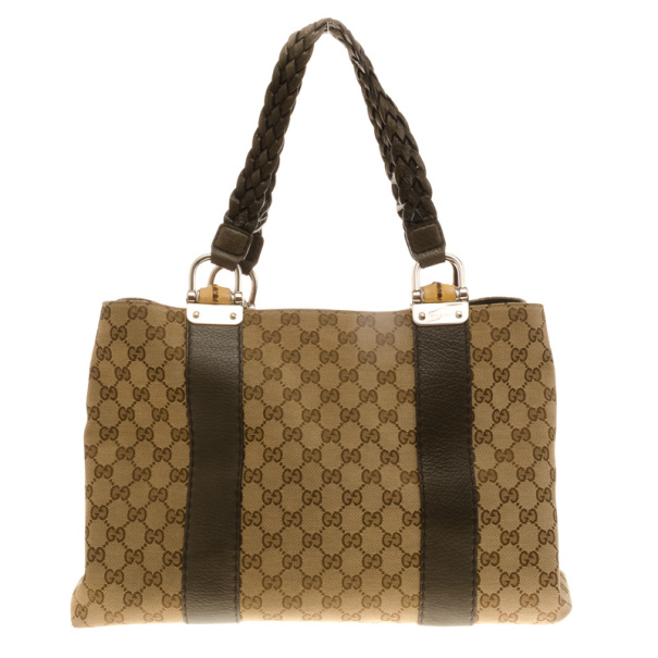 71a73c39a87 Buy Gucci Bamboo Bar Medium Canvas Tote 17243 at best price