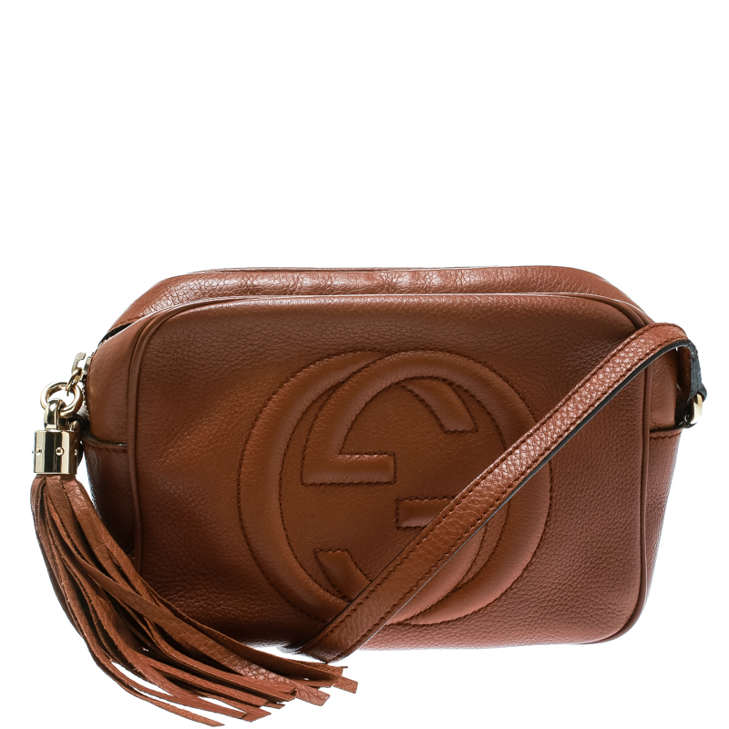 6175b2ccb89 ... Gucci Brown Leather Soho Disco Crossbody Bag. nextprev. prevnext