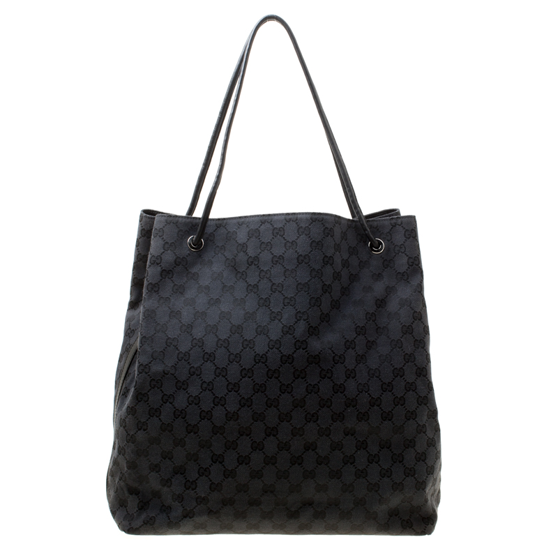 5fbfdee35927 Buy Gucci Black GG Canvas Large Gifford Shopper Tote 177054 at best ...