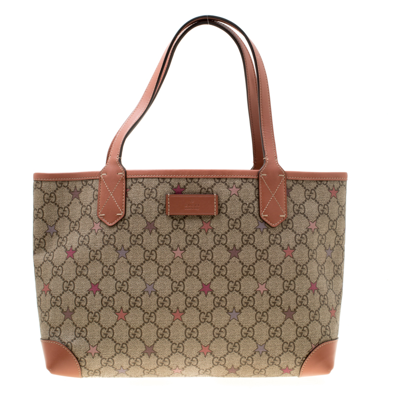 09d8033855fb Buy Gucci Beige GG Supreme Star Canvas Tote 178198 at best price | TLC