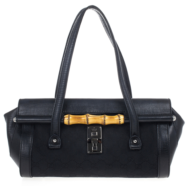 c652c1ac6bd1e Buy Gucci Black Canvas Bamboo Bullet Bag 17873 at best price