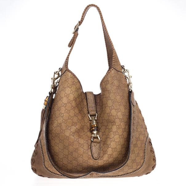3b69e82007f Buy Gucci Deep Tan New Jackie Guccissima Leather Shoulder Bag 18141 ...