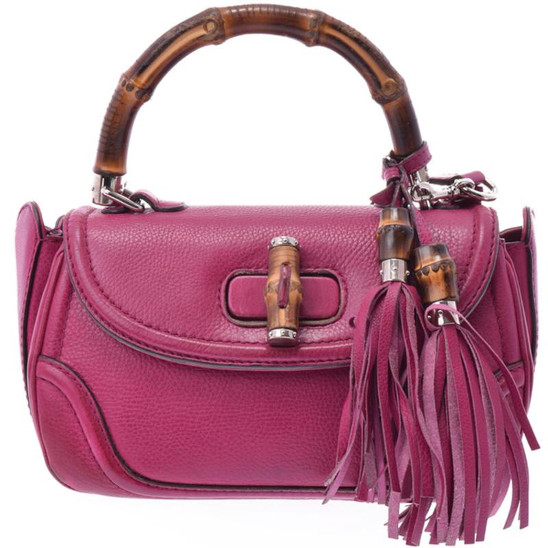 0ff6fe9b867742 Gucci Pink Bamboo Handbag - Foto Handbag All Collections ...