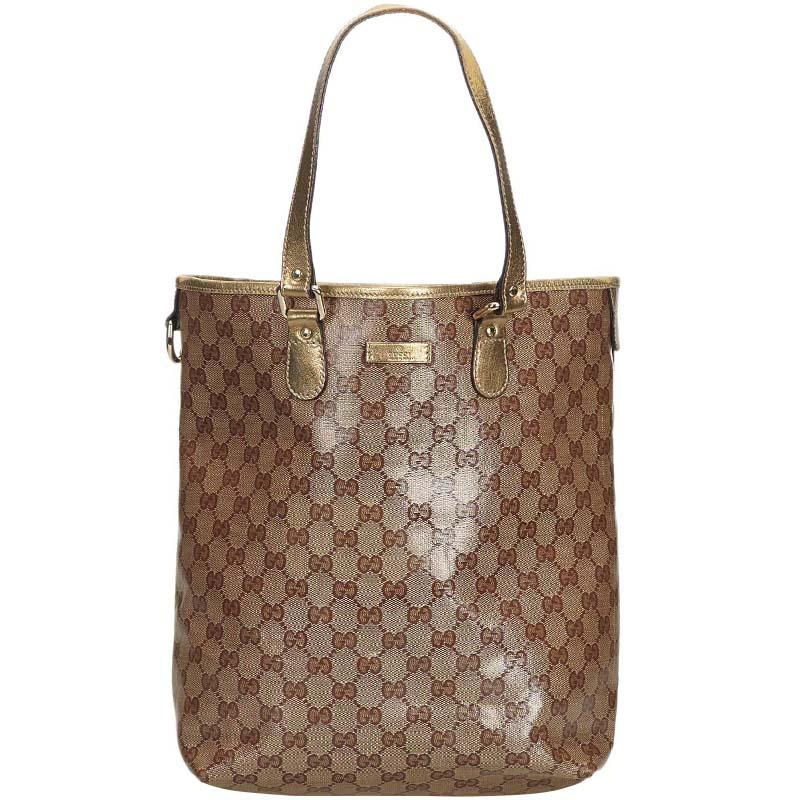 a8c8c11ff28e8b ... Gucci Brown Coated Canvas GG Supreme Tote Bag. nextprev. prevnext
