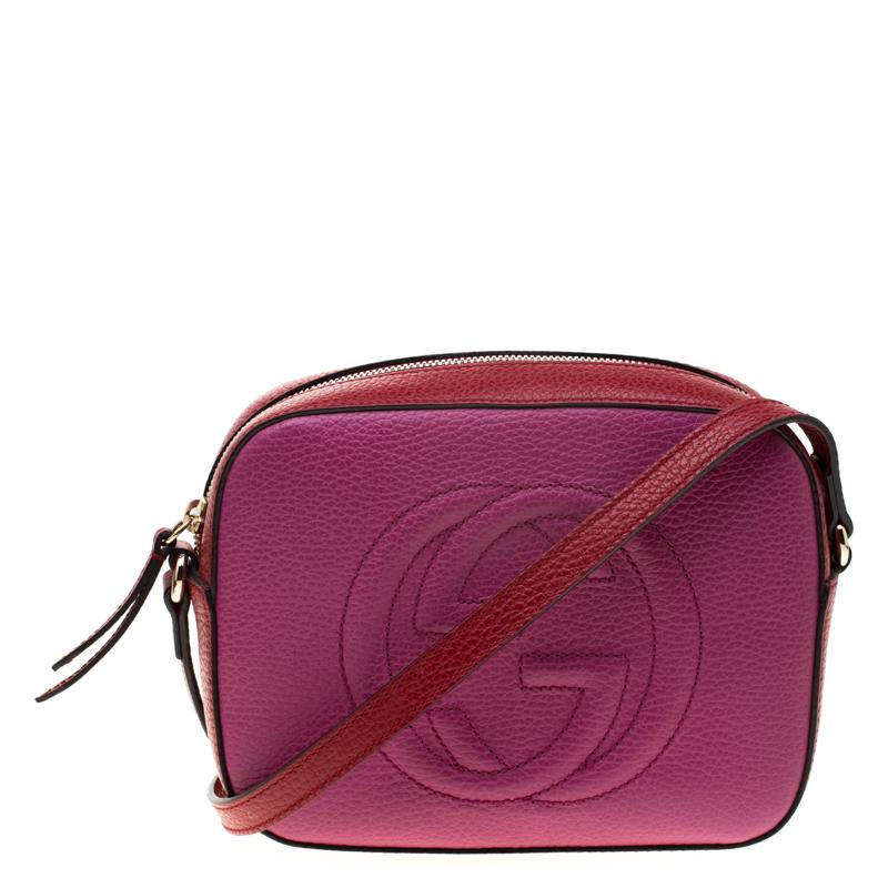 c3e3083ee940 ... Gucci Pink/Red Leather Soho Disco Crossbody Bag. nextprev. prevnext