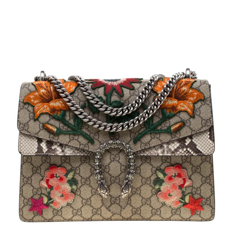 83ce06a1431c ... Gucci Multicolor Supreme Canvas Medium Embroidered Dionysus Shoulder Bag.  nextprev. prevnext