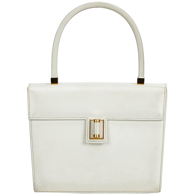 cae29300500 Buy Gucci White Vintage Gucci Leather Everyday Bag 185168 at best ...