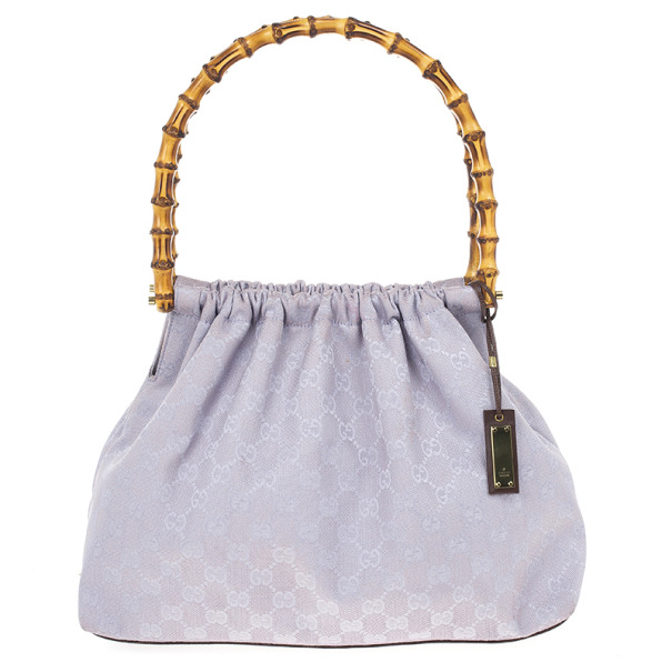 Buy Gucci Vintage Lilac Canvas Bamboo Bag 18544 at best price  90d69871b04f6