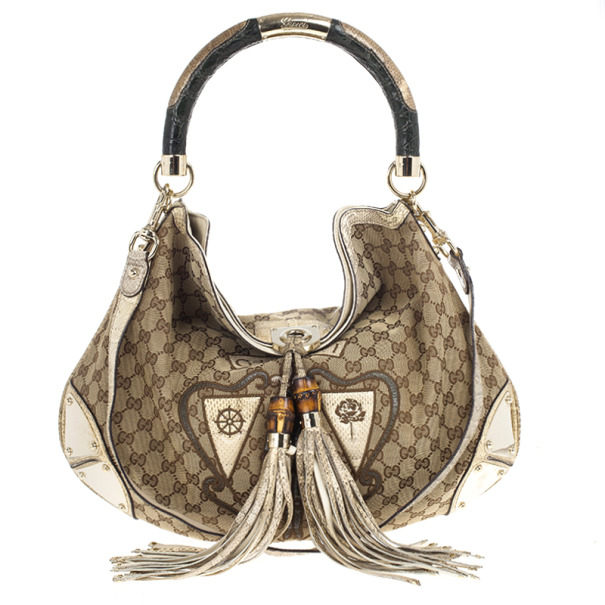 16a009197692ec Buy Gucci Limited Edition Beige GG Canvas Crest Patchwork Indy Top Handle  Bag 18906 at best price   TLC