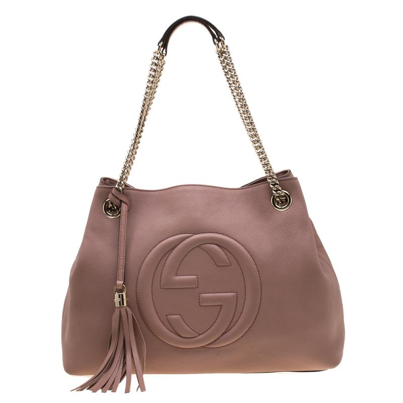4d5fb03d1aa9 ... Gucci Coral Pink Leather Medium Soho Shoulder Bag. nextprev. prevnext