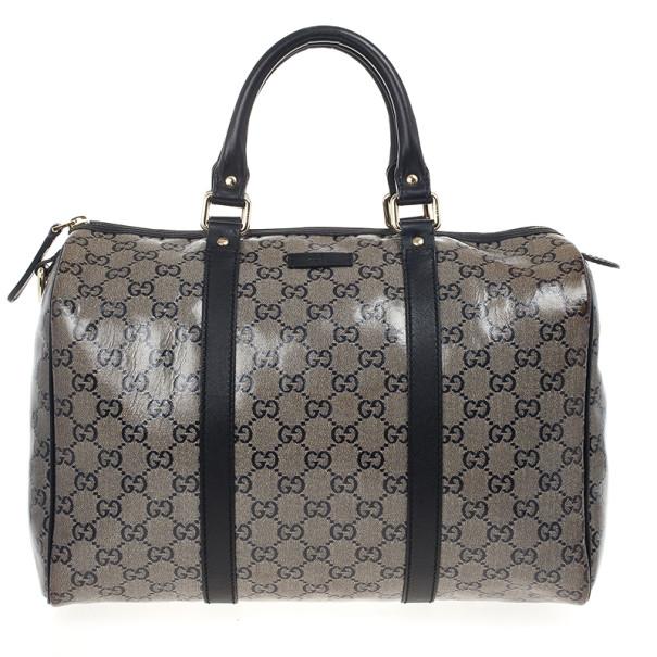 bdd47e7550 Buy Gucci Grey Crystal Lame Joy Boston Satchel 20343 at best price | TLC