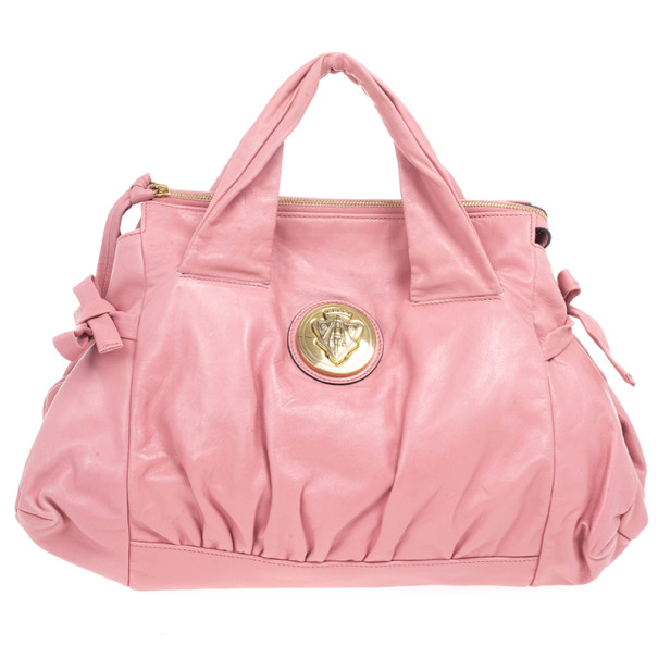 fb773d1ffbf5 Buy Gucci Pink Leather 'Hysteria' Large Tote 20461 at best price | TLC