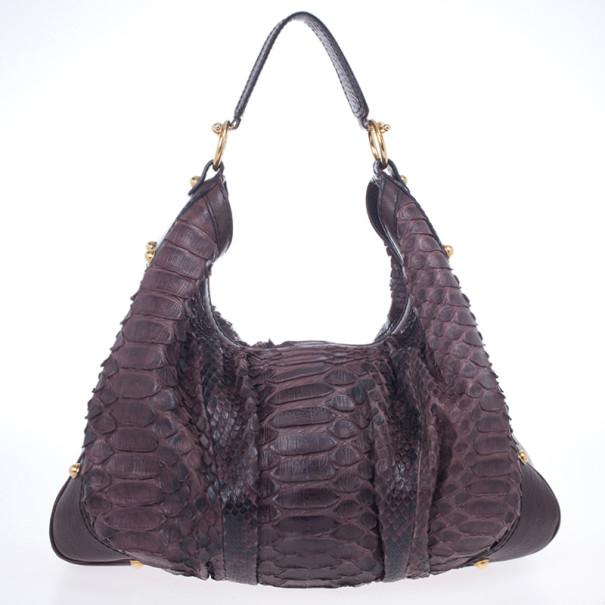 9c25f6d3b4a Buy Gucci Large Jockey Python Hobo Bag 20898 at best price