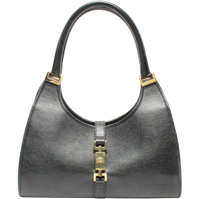 Gucci Black Leather Jackie O Bag