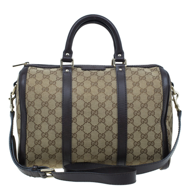 bc0dcaf1c Buy Gucci Brown Canvas Web Original GG Boston Bag 2152 at best price ...