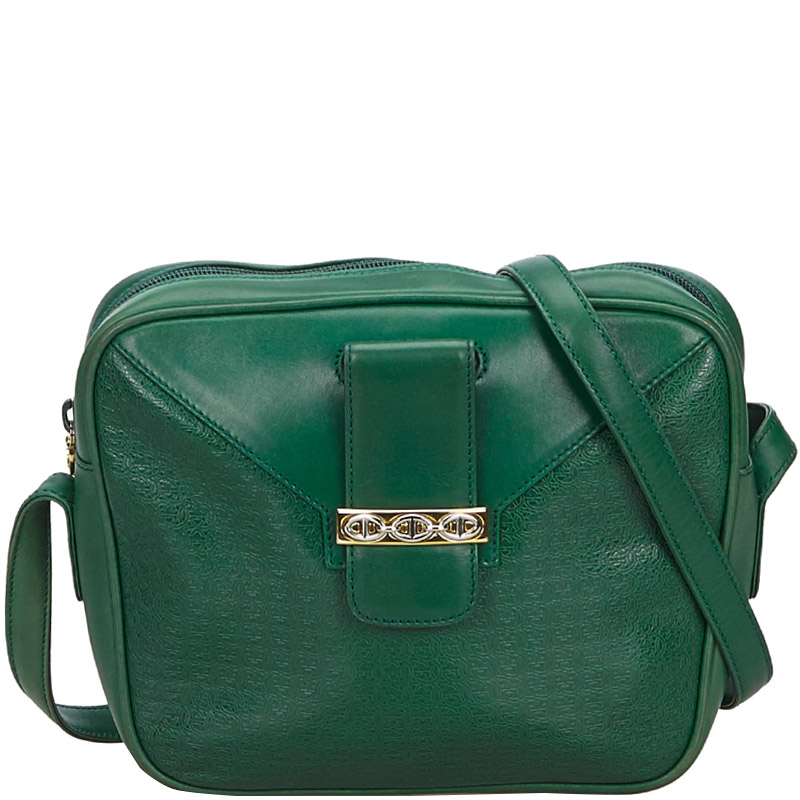 nice shoes preview of online retailer Gucci Green Leather Crossbody Bag